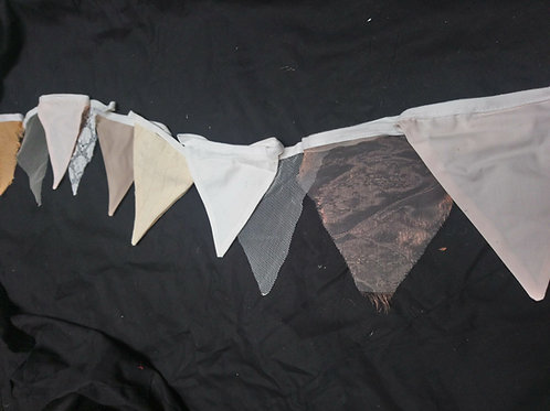 Bunting - Natural shades grey beige ivory