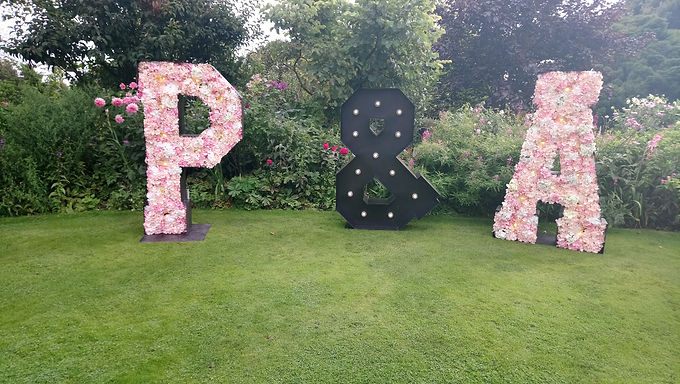 Giant Letter - Flower Filled (silk) with Lights price each