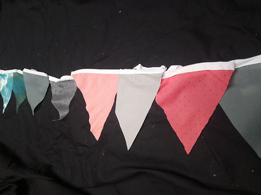Bunting - Coral and coffee