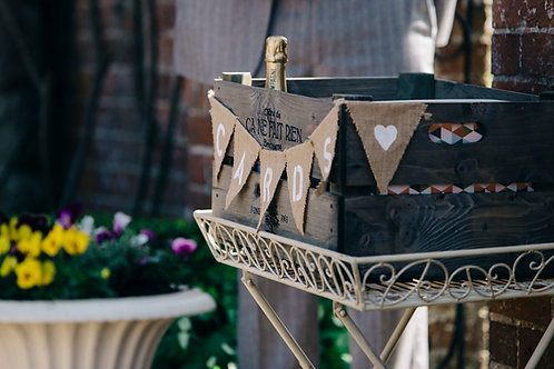 Card Box - Crate or Wicker Basket