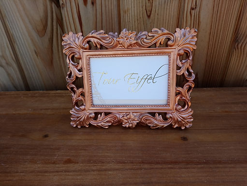 Table Name - Table Number Frame - Rose Gold