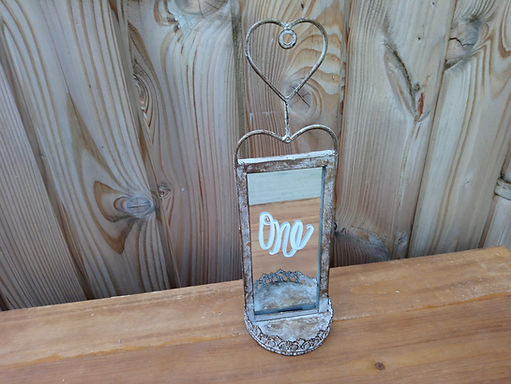 Table Number - Table Name - Copper Rustic