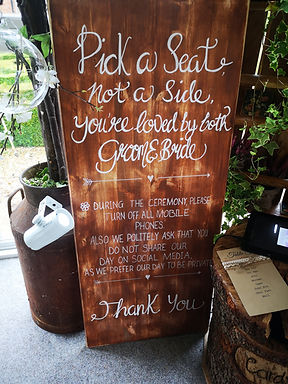Sign - Bespoke - Natural Wood (Large)