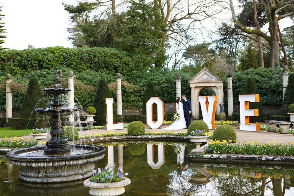 Giant Love Letters - Italian Villa