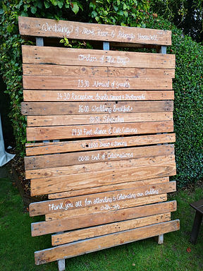 Sign - Order of Day - Natural Pallet - Painted Writing
