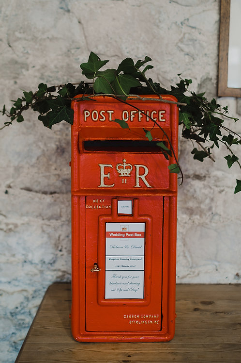 Card Box - ER Original Cast Iron Red Post Box
