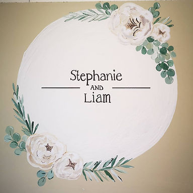 Sign - Hand Painted with Decals - (qty5 including table plan)