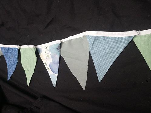 Bunting - Earthy green khaki blue