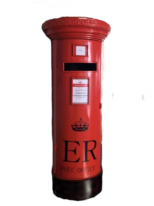 Card Box - Pillar box - Metal ER - Red