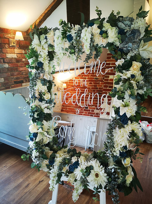 Table Plan - Floral Frame - Mirror