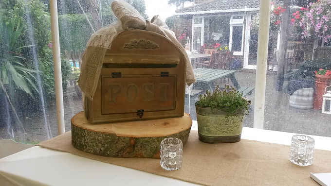 Card Box - Natural Wood - Rounded top - US Style