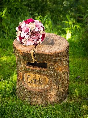 Card Box - Rustic Woodland Hollow Log