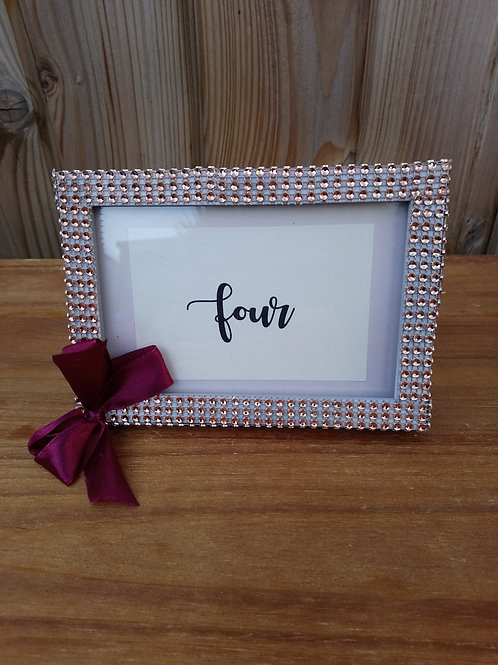 Table Name or Number Holder in Diamante Frame