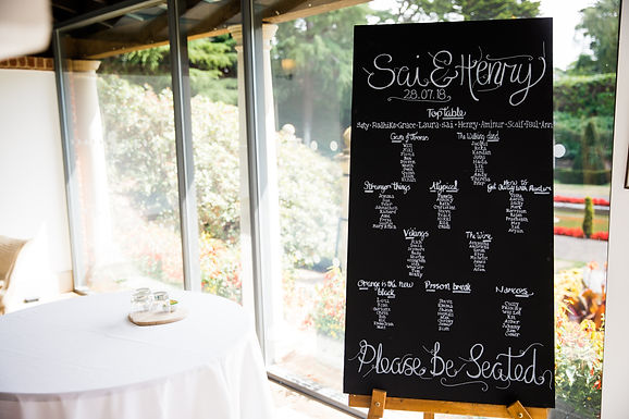 Table Plan - Chalkboard
