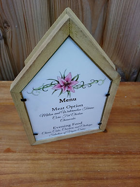 Table Number - Table Name  - Tent Frame
