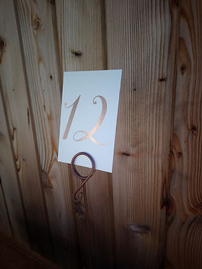 Table Number Card - Gold Foiled