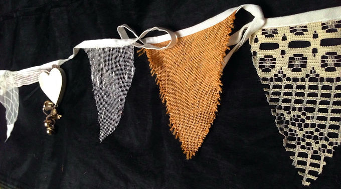 Bunting - Hessian and lace
