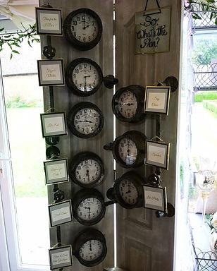 Sign - Order of Day - Clock Dials - Floor Standing