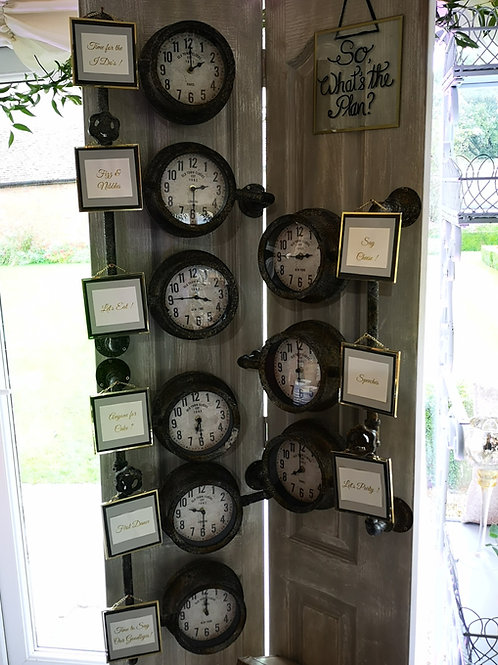 Sign - Order of Day - Clock Dials - Floor Standing