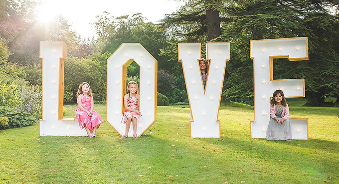 Giant Letter - Wood Natural - Qty 4 Spelling LOVE - price for 4