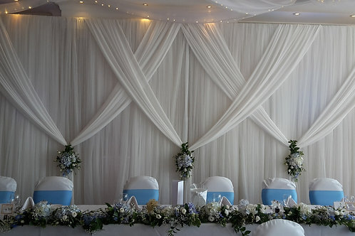 Backdrop - Draped Whiteout £120 to £275