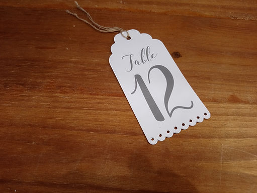 Table Number Tag