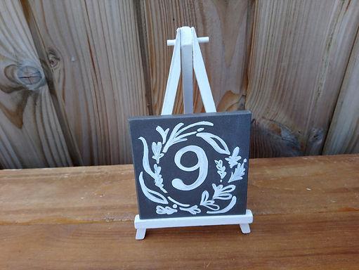 Table Number - Black board on Mini Easel