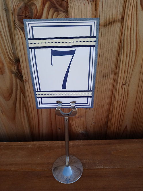 Table Number Card with Themed detail