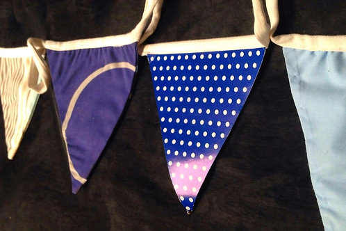 Bunting - 50 shades of blue - with a nautical touch