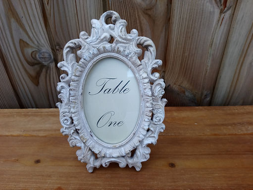 Table Number - Table Name - Ivory Scroll