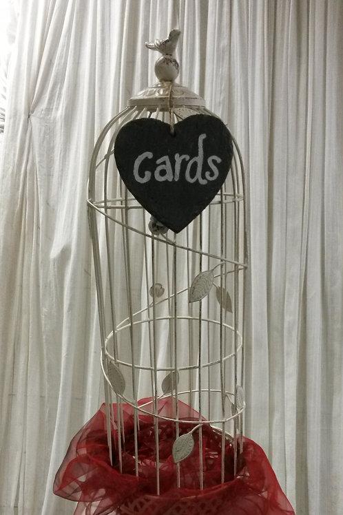 CardBox - Bird Cage (add £20 for flowers)