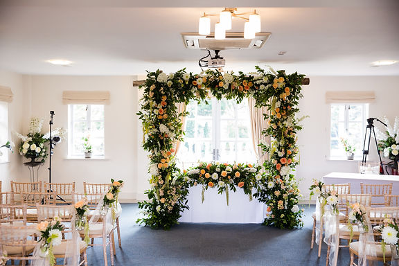 Arch - Wooden - Flat Top - Full Floral Cover