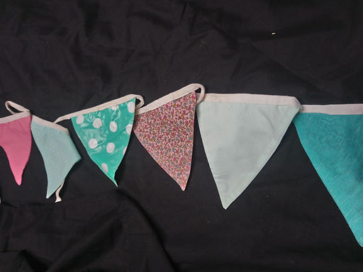 Bunting - Duck egg mint and Coral