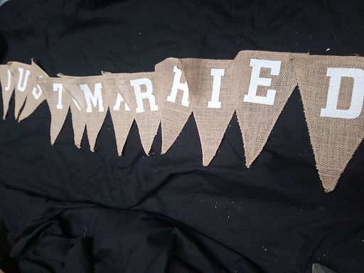 Bunting - Hessian Just Married