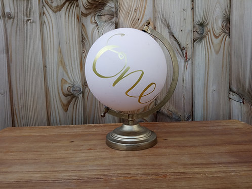 Table Name or Table Number holder -Globe travel theme
