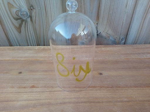Table Name or Table  Number Glass Dome Cloche