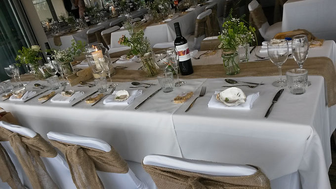 Table runner - Chiffon - Hessian - Organza - Fitted
