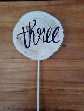 Table Number - Prong Wood Disc