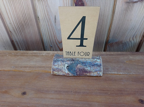 Table Number Card - Kraft Card Stock Printed - on minilog