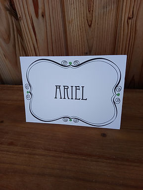 Table Name Card with Decal Surround