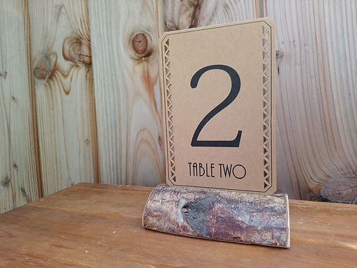 Table Number Card - Kraft Card Stock