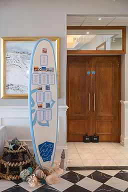Table Plan - Surf Board with stationery
