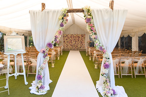 Arch - Chestnut - Curtain Drape - Silk Garland