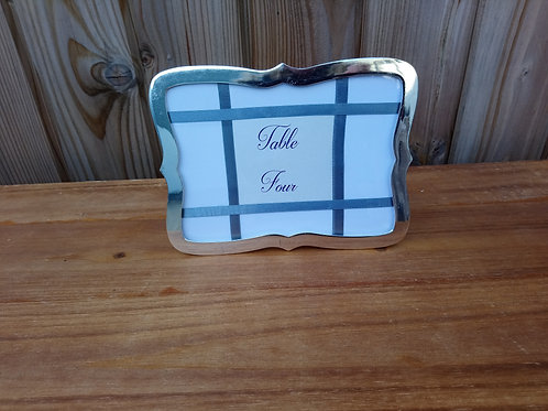 Table Name or Table Number - Curvy Frame Silver