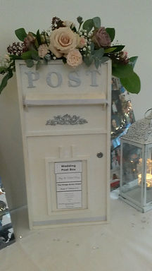 Card Box - White Rectangular - Add £25 for flowers