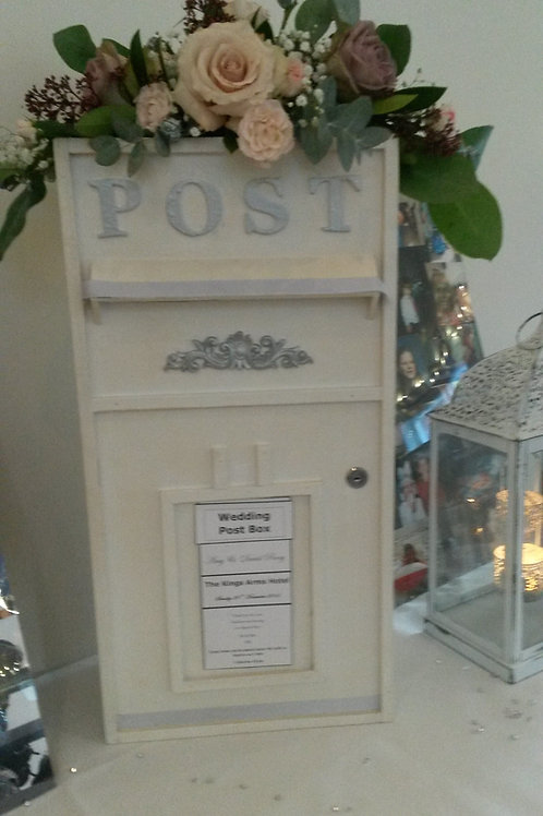 Card Box - White Rectangular - Add £25 for flowers