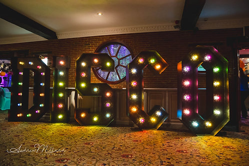 Giant Letter - Copper Effect - Multi-Colour Lights price each