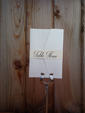 Table Name Card - Envelope with Waist Band