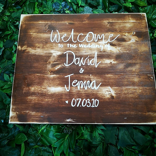 Sign - Bespoke - Natural Wood (Medium)