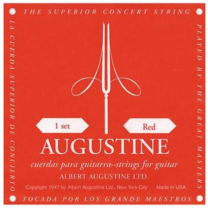 Albert Augustine Red Label Classical Nylon Guitar Strings, .29 - .45